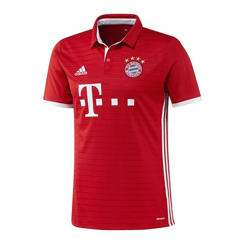 adidas FC Bayern München Trikot Home 2016/2017 Rot - rot