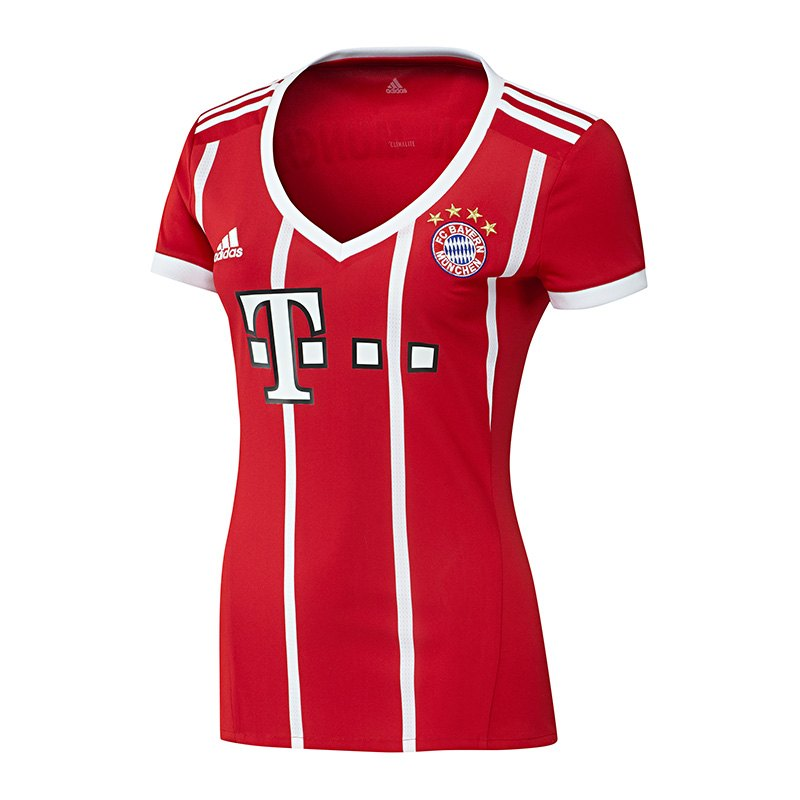 adidas fc bayern m nchen trikot home damen 17 18 fanshop frauentrikot trikotstoff. Black Bedroom Furniture Sets. Home Design Ideas