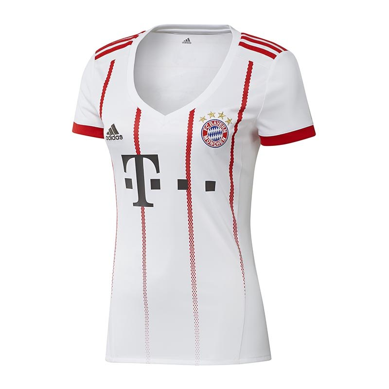 adidas fc bayern m nchen trikot ucl damen 2017 18 fanshop fanartikel replica damentrikot. Black Bedroom Furniture Sets. Home Design Ideas