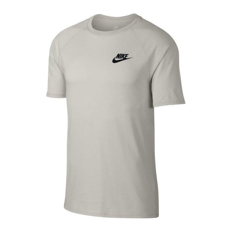 Nike Tee T-Shirt Beige Schwarz F072 - beige