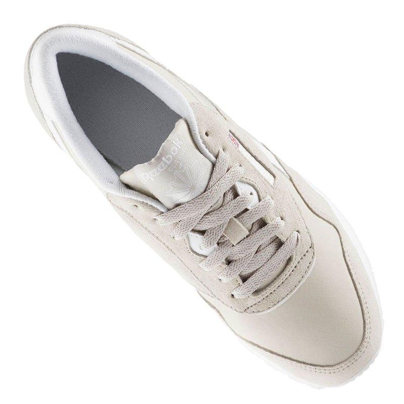 reebok classic leather sneaker damen beige lifestyle freizeitschuh shoes damenschuh. Black Bedroom Furniture Sets. Home Design Ideas