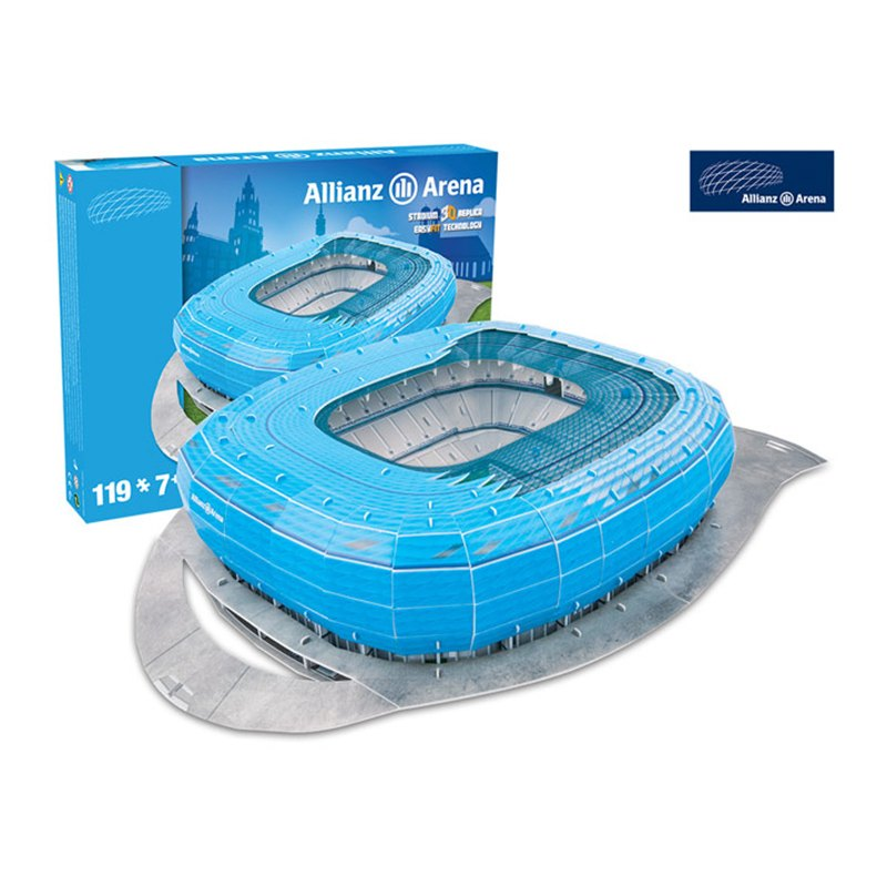 3d stadion puzzle allianz arena 1860 m nchen blau. Black Bedroom Furniture Sets. Home Design Ideas
