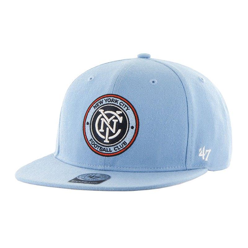 47 Brand New York City FC MLS Sure Shot Cap FCO - blau