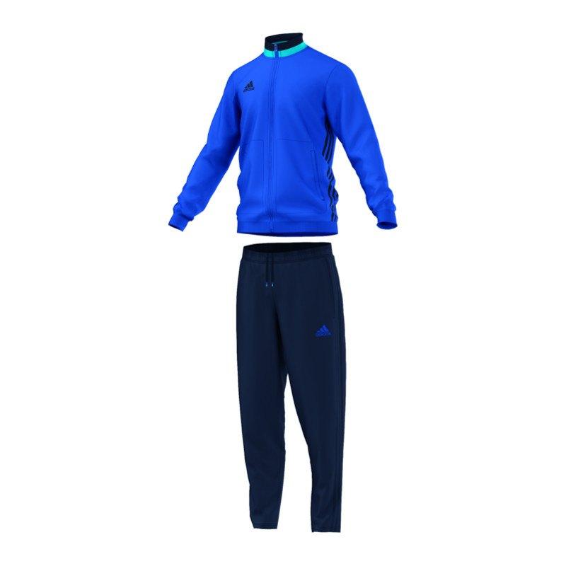 adidas condivo 16 trainingsanzug blau blau. Black Bedroom Furniture Sets. Home Design Ideas