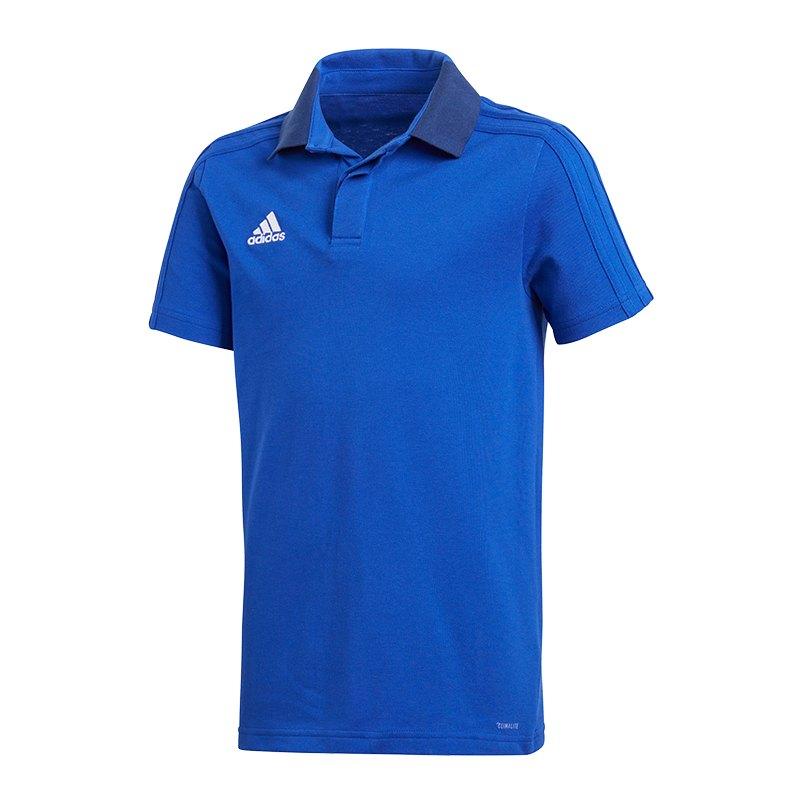 adidas Condivo 18 Poloshirt Kids Blau - blau