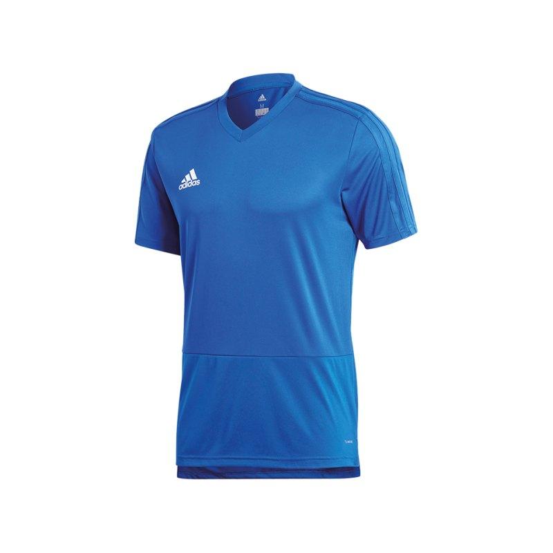 adidas Condivo 18 Training T-Shirt Blau Weiss - blau
