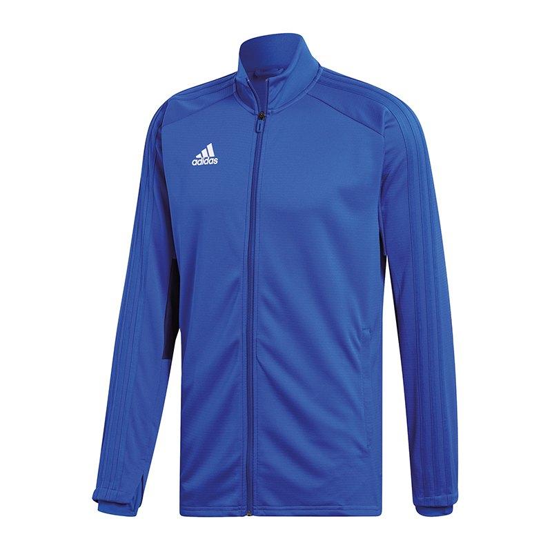 adidas Condivo 18 Trainingsjacke Kids Blau Weiss - blau