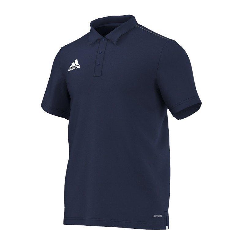 adidas Core 15 ClimaLite Poloshirt Blau Weiss - blau
