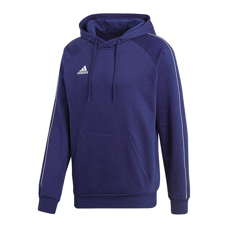 adidas Core 18 Hoody Kapuzensweatshirt Blau Weiss - Blau