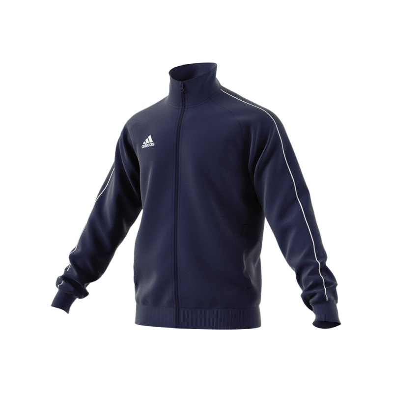 adidas Core 18 Polyesterjacke Dunkelblau Weiss - blau
