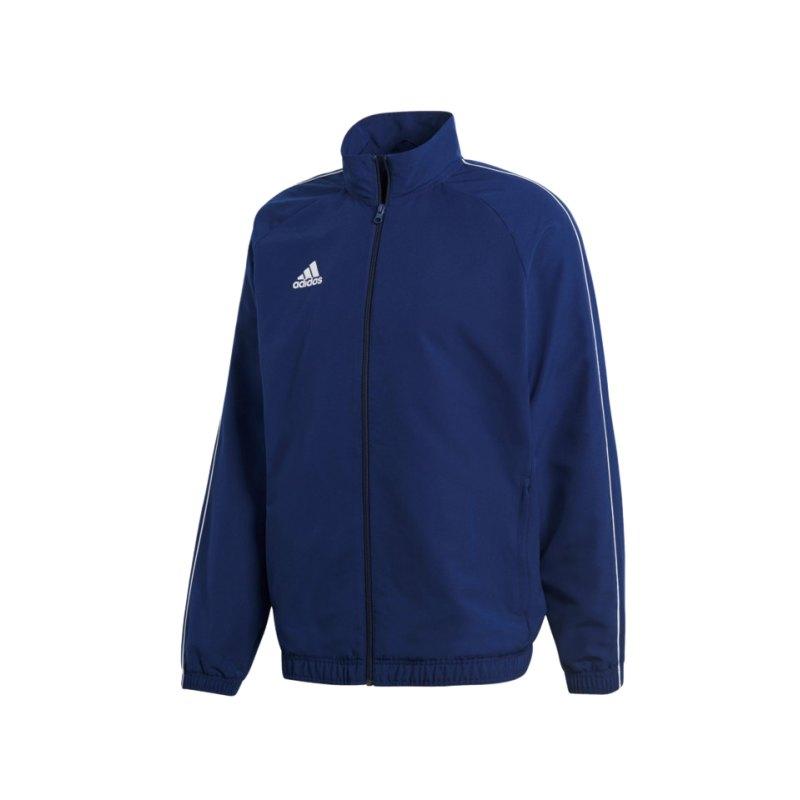 adidas Core 18 Präsentationsjacke Dunkelblau Weiss - blau