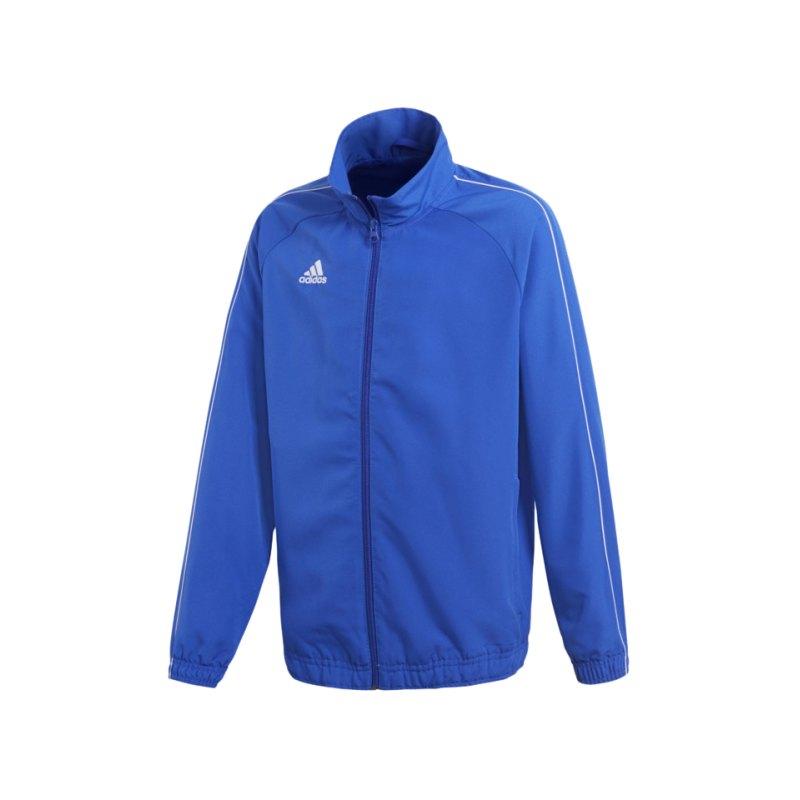 adidas Core 18 Präsentationsjacke Kids Blau Weiss - blau