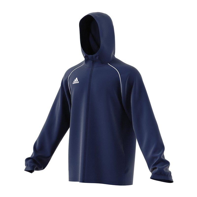 adidas Core 18 Rain Jacket Jacke Dunkelblau - blau