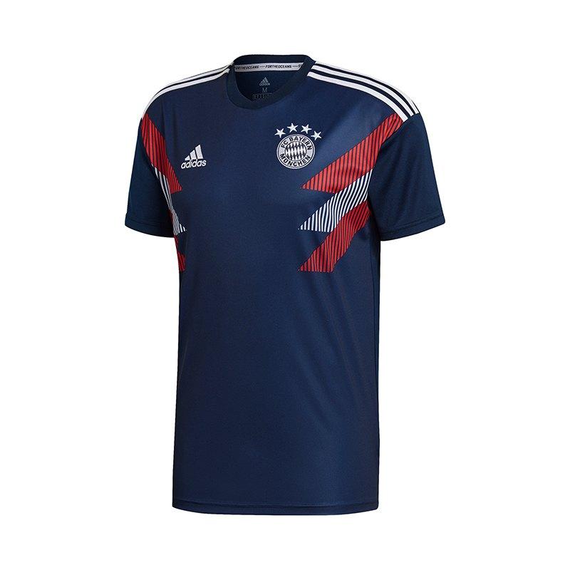 adidas FC Bayern München Prematch Shirt Blau Weiss - blau