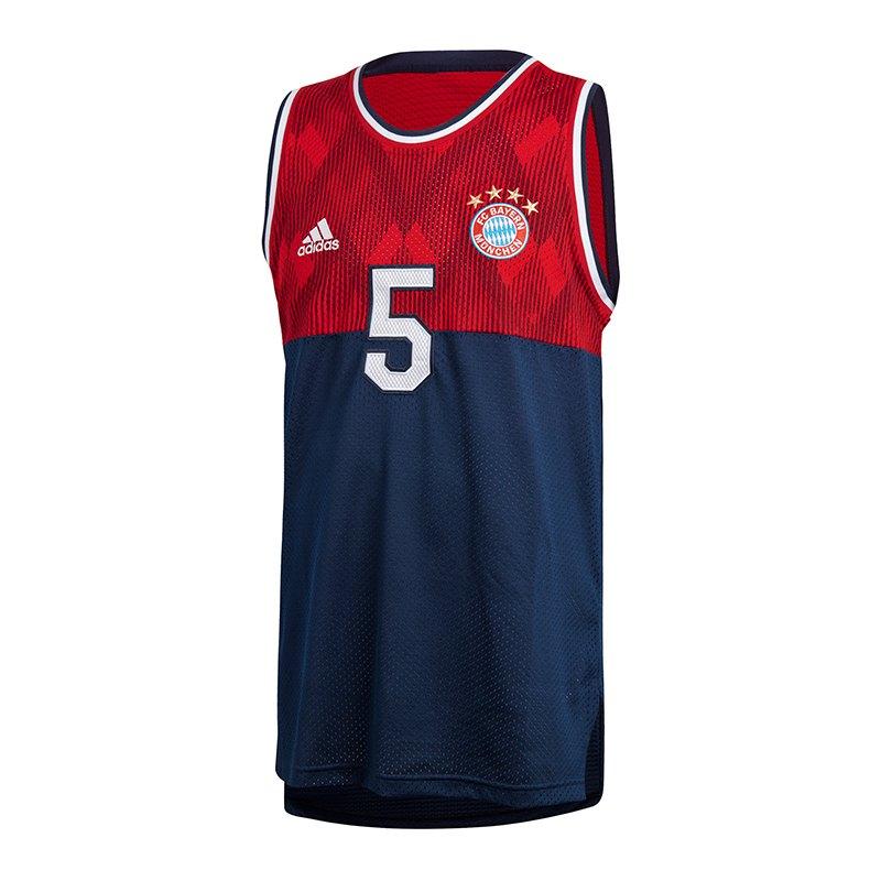 adidas FC Bayern München SSP Tank Top Blau Rot - blau