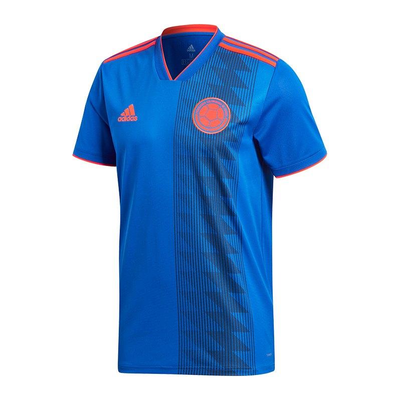 adidas Kolumbien Trikot Away Kids WM 2018 Blau - blau