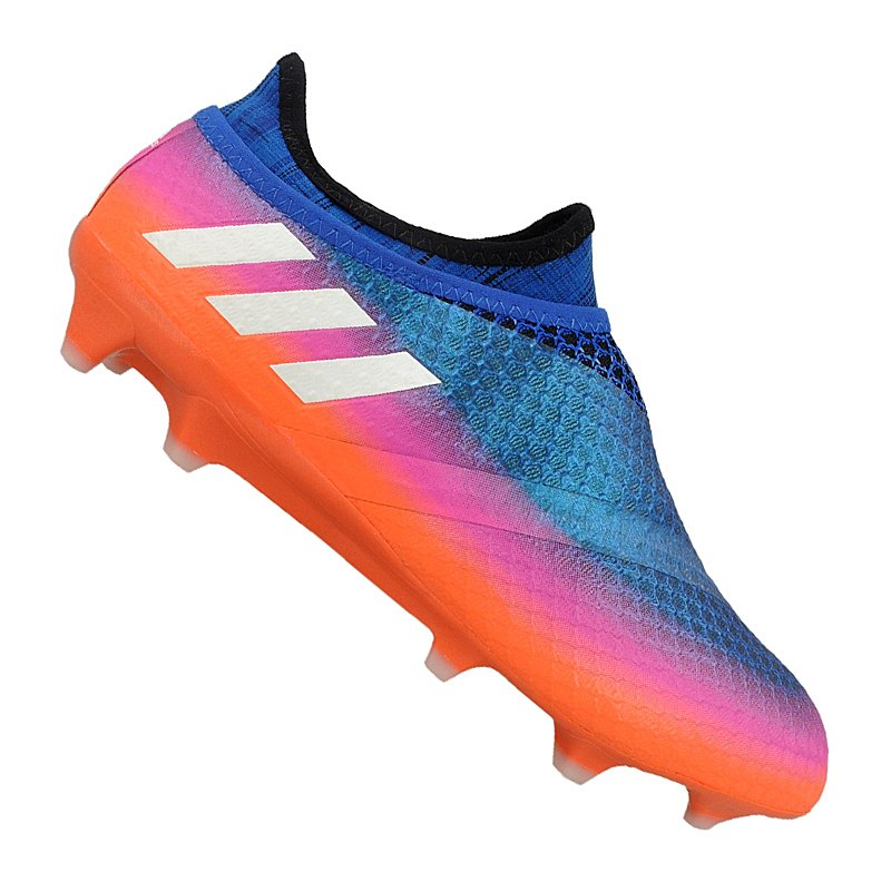 adidas Messi 16+ Pureagility FG Blau Weiss Orange - blau