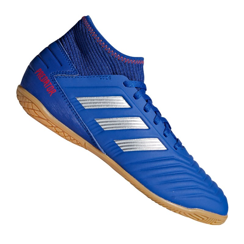 adidas Predator 19.3 IN J Halle Kids Blau Silber - blau