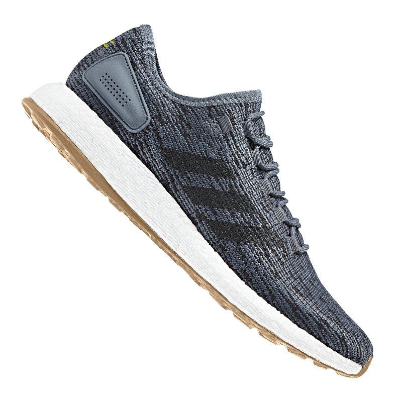 adidas Pure Boost Running Blau Schwarz - blau
