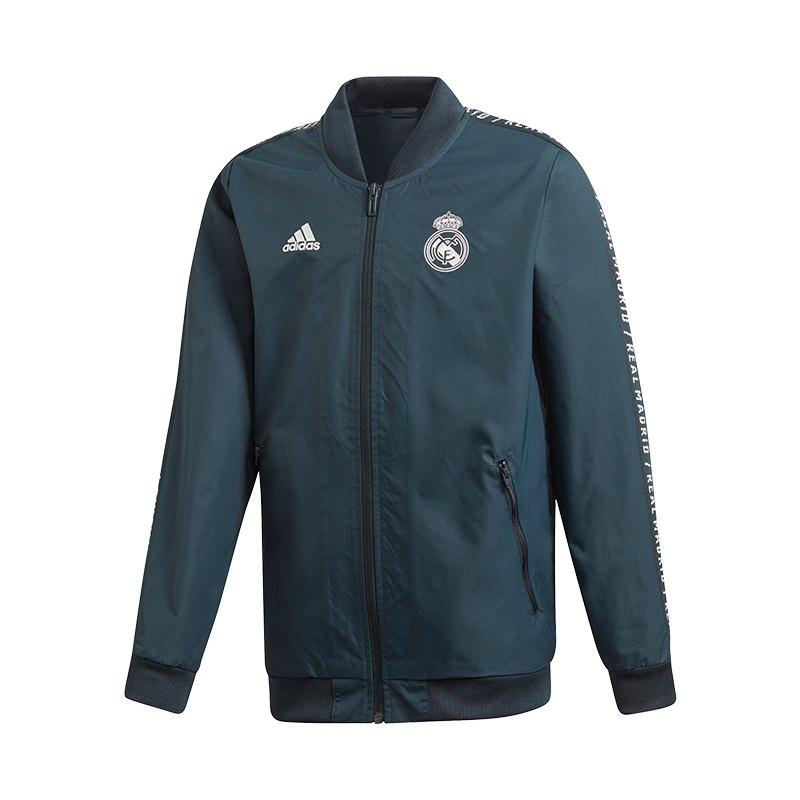 adidas Real Madrid Anthem Jacket Jacke Kids Blau - blau
