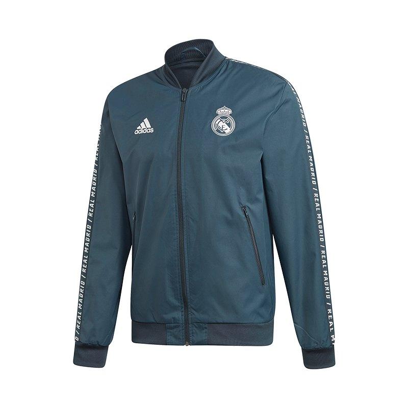 adidas Real Madrid Anthem Jacket Jacke Blau - blau