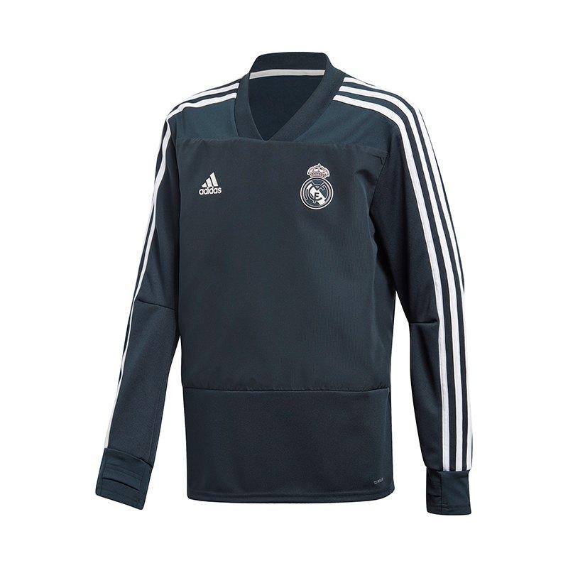 adidas Real Madrid Training Sweatshirt Kids Blau - blau