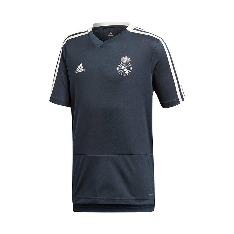 adidas Real Madrid Training T-Shirt Kids Blau - blau