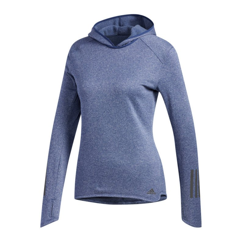 sweatshirt damen running blau adidas response hoody. Black Bedroom Furniture Sets. Home Design Ideas