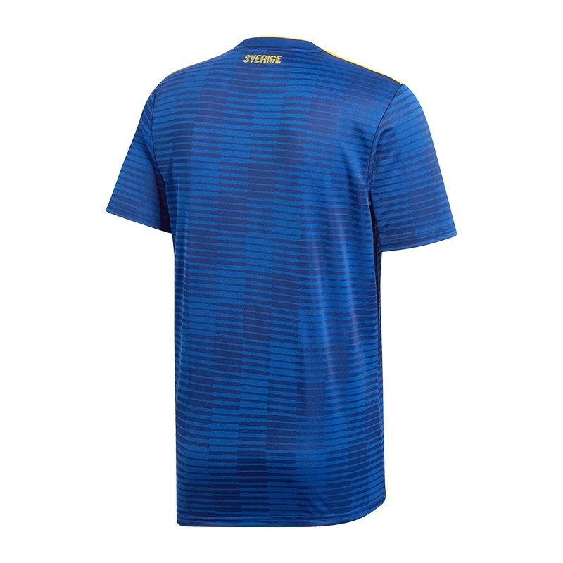 adidas schweden trikot away wm 2018 blau weltmeisterschaft fu ball shortsleeve fanshop. Black Bedroom Furniture Sets. Home Design Ideas