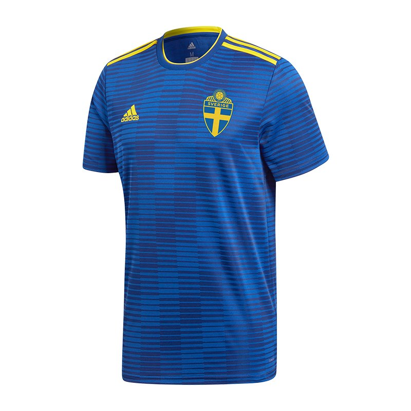 adidas schweden trikot away wm 2018 blau weltmeisterschaft fu ball shortsleeve fanshop. Black Bedroom Furniture Sets. Home Design Ideas