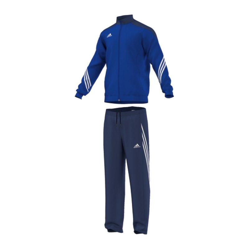 adidas Sereno 14 Polyesteranzug Blau - blau