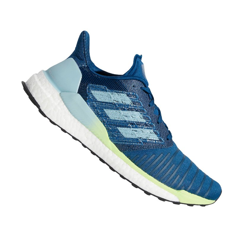 adidas Solar Boost Running Blau Grün - blau