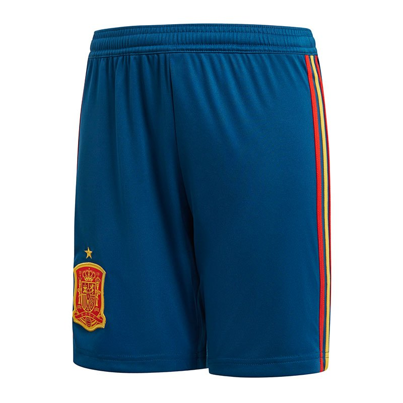 adidas Spanien Short Home Kids WM 2018 Blau - blau