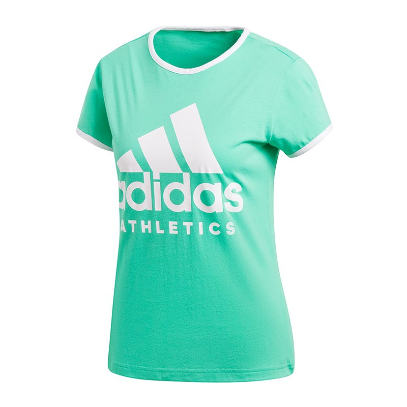 adidas sport id slim t shirt damen blau weiss. Black Bedroom Furniture Sets. Home Design Ideas
