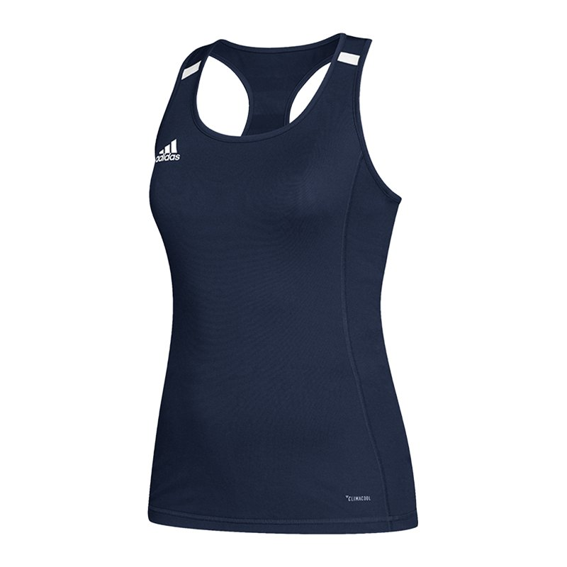 adidas Team 19 Tank Top Damen Blau Weiss - blau