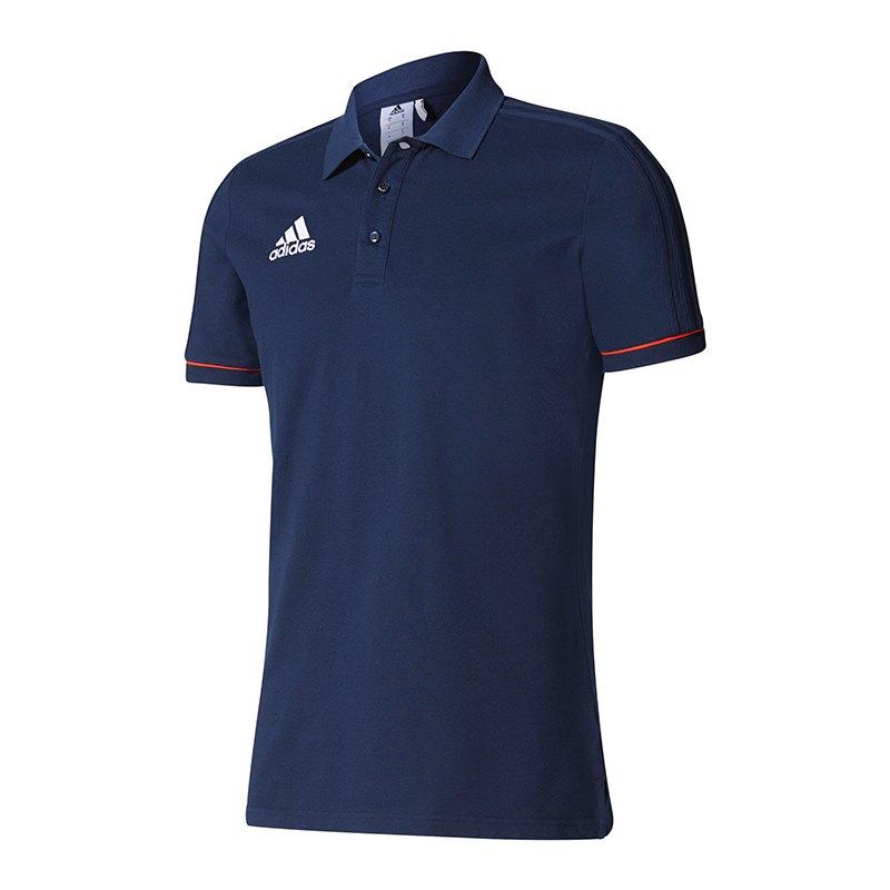 adidas Tiro 17 Poloshirt Dunkelblau Rot - blau