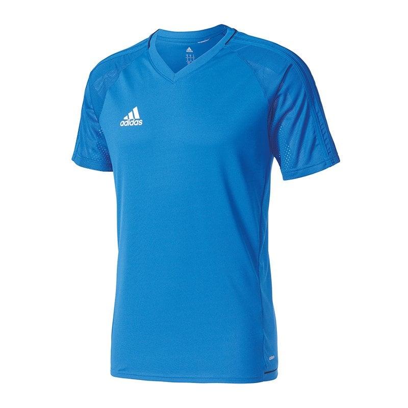 adidas Tiro 17 Trainingsshirt Blau - blau