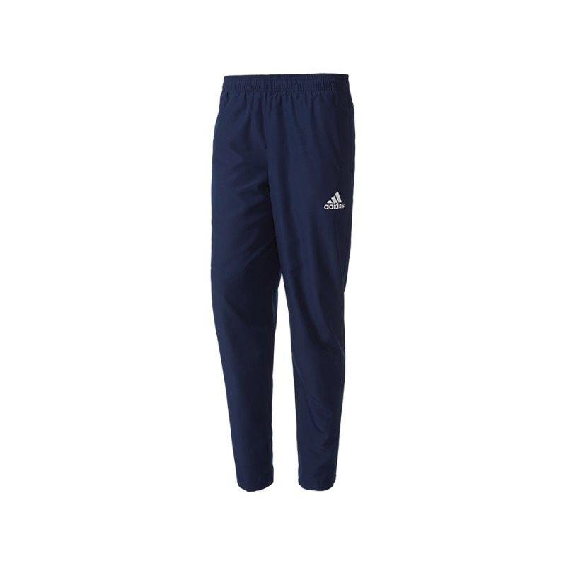 adidas Tiro 17 Woven Pant Hose lang Blau Weiss - blau