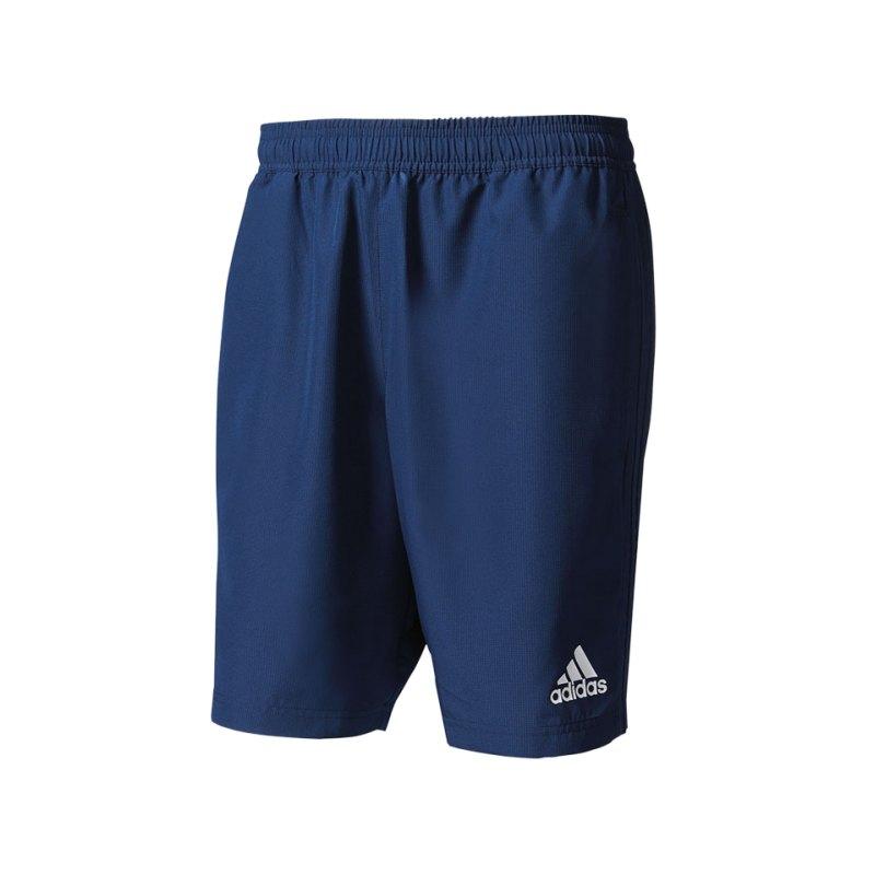 adidas Tiro 17 Woven Short Hose kurz Blau Weiss - blau
