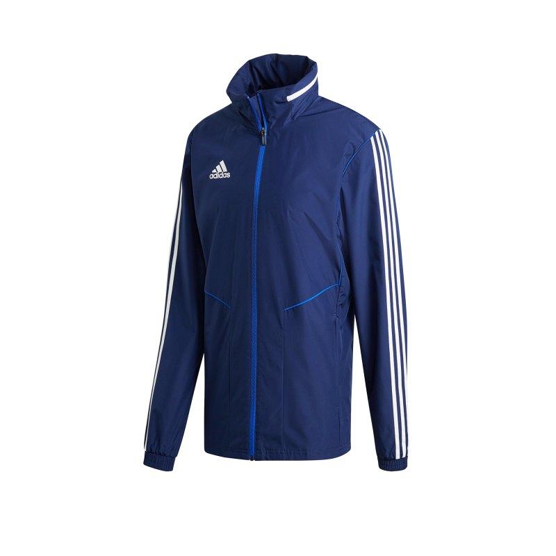 adidas Tiro 19 Allwetterjacke Jacket Dunkelblau - blau