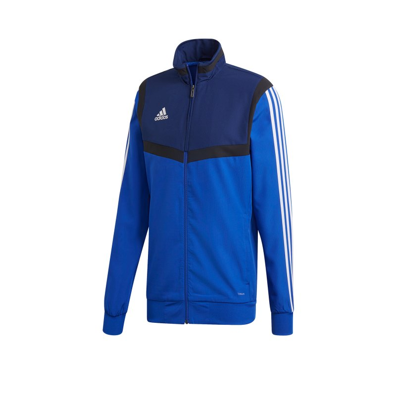 adidas Tiro 19 Präsentationsjacke Blau Weiss - blau