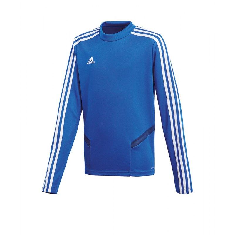 adidas Tiro 19 Trainingstop Kids Blau Weiss - blau