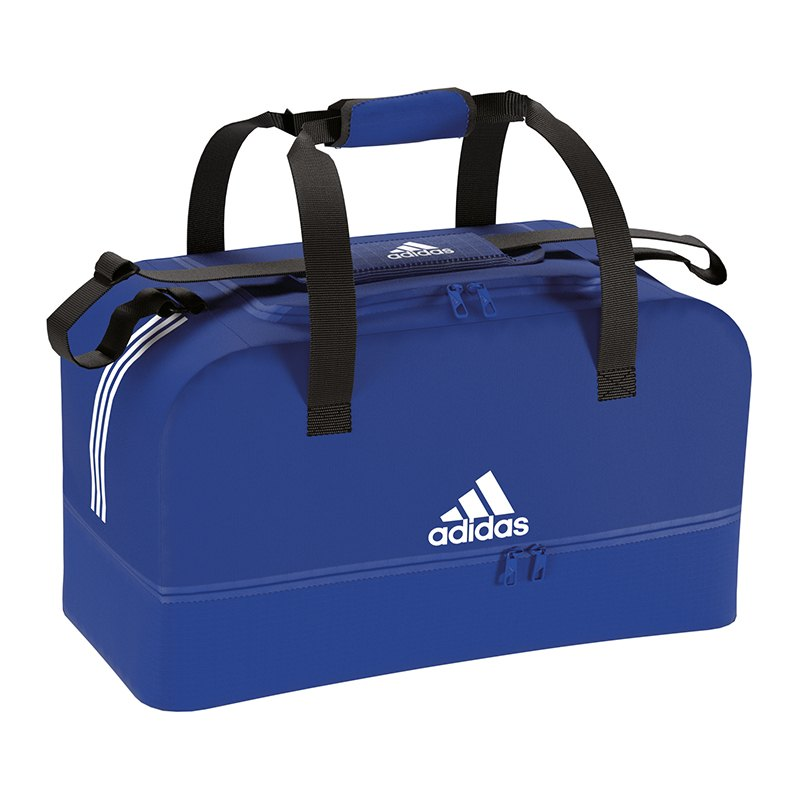 adidas Tiro Duffel Bag Tasche Gr. L Blau Weiss - blau
