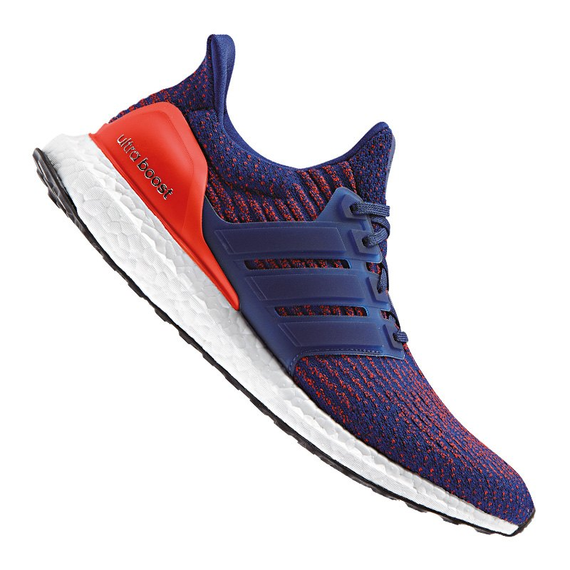adidas ultra boost running blau rot sneaker running. Black Bedroom Furniture Sets. Home Design Ideas