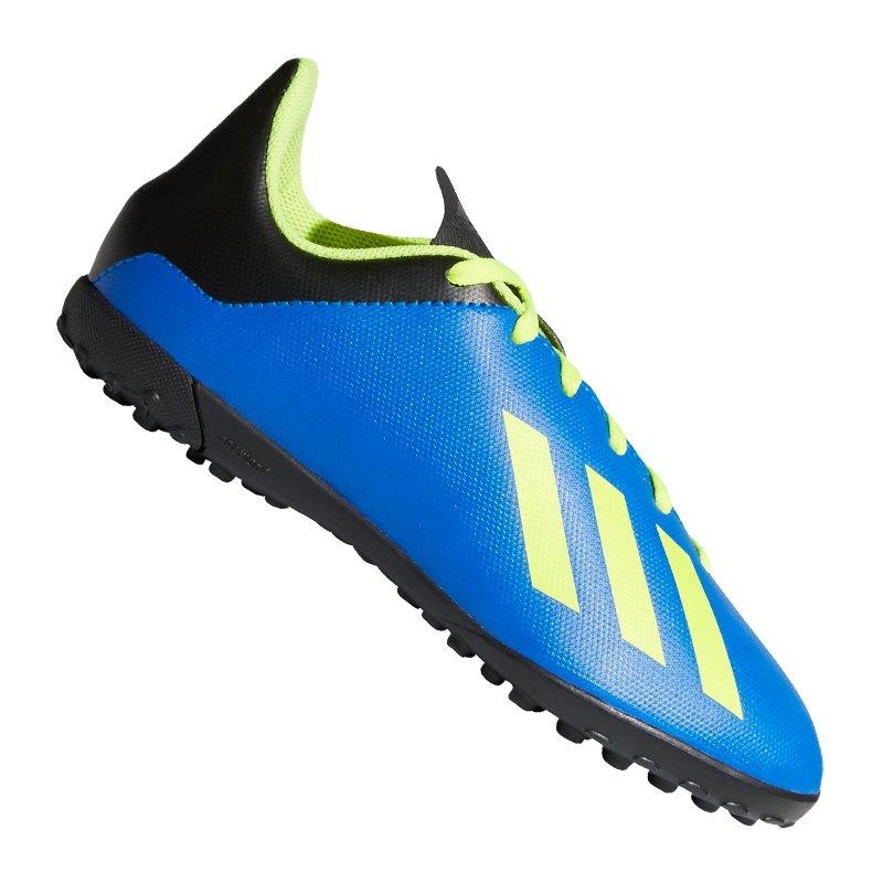 adidas X Tango 18.4 TF J Kids Blau Gelb - blau