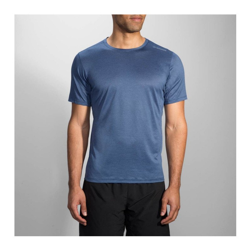 Brooks Ghost Tee T-Shirt Running Blau F469 - blau