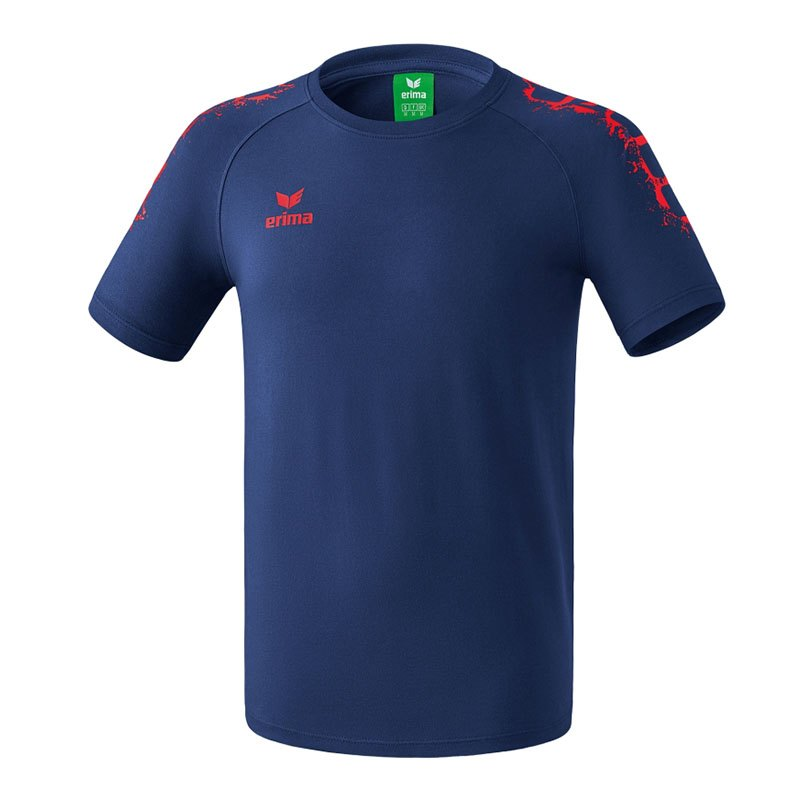 Erima 5-Cubes Graffic T-Shirt Basic Kids Blau Rot - blau