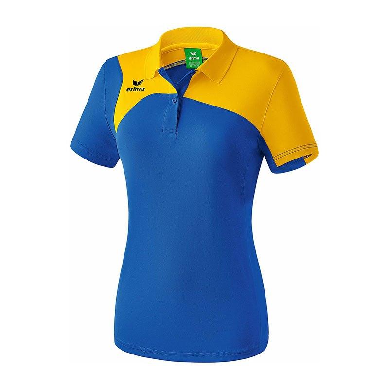 Erima Club 1900 2.0 Poloshirt Damen Blau Gelb - blau