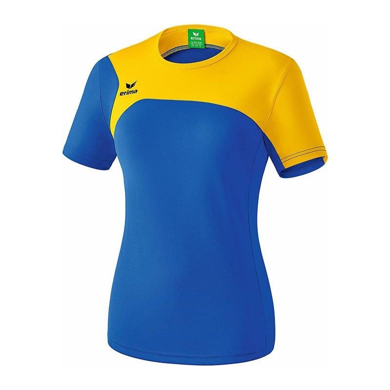 Erima Club 1900 2.0 T-Shirt Damen Blau Gelb - blau