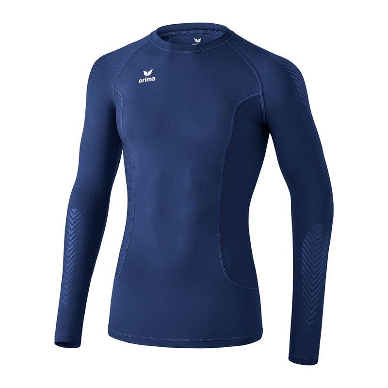 Erima Elemental Longsleeve Shirt Blau - blau